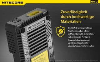 Nitecore Intellicharge New i2 - AAA, AA, RCR123, 18650er Lader